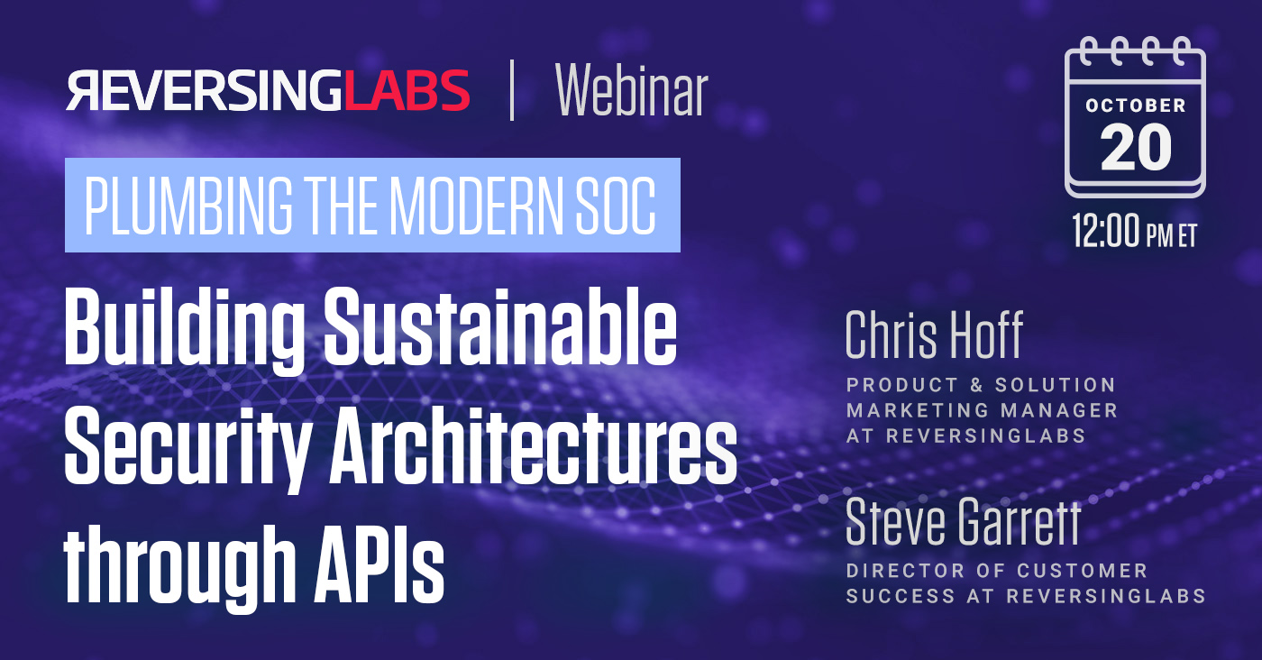 Building Sustainable Security Architectures through APIs